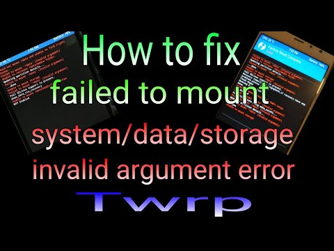 Tips atasi masalah Failed To Mount System (Invalid Argument) pada nubia N2 via TWRP